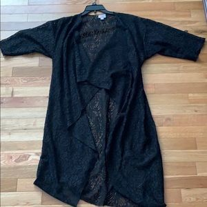 Black lace LuLaRoe Shirley
